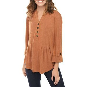 ND Pumpkin Spice Pleated Top